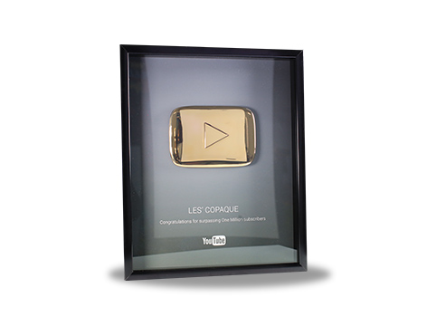 YouTube Gold Play Button – 1,000, 000 Subscribers – Les ...